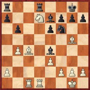 Τα λευκά επέλεξαν 16.Nxf6+ το οποίο οδηγεί σε ισότητα. Ίσως πιο ακριβές να ήταν το 16.f3.